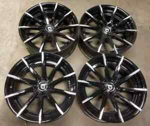 Lexani Css15 Wheels Rims 20 Inch Staggered 5x130 Gloss Black Machine Tips