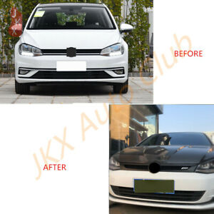 For Vw Golf 7 Abt 2018 2020 Black Front Bumper Grille Grill L Upgrade New Look