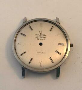 Universal Genve Polerouter Compax Steel Watch Case And Dial For Parts
