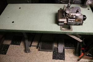 Singer 460 460k73 Industrial Commercial Overlock Serger Sewing Machine W Table