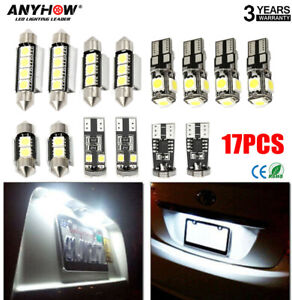 T10 Led Light Car Bulbs 17 Pcs Auto Lamp For Interior Dome Map Set Inside White