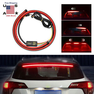 Led Car Truck Drl Led Rear Light Bar Brake Flowing Turn Signal Stop Tail Strip