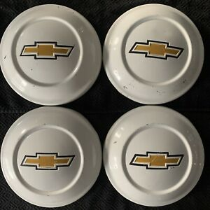 4 Set 72 81 Chevy Luv Factory Oem Wheel Center Rim Hub Cap Lug Cover Dog Dish Ab