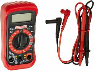 Craftsman 8 Function Digital Multimeter Voltage Meter Electrical Tester 34 82141