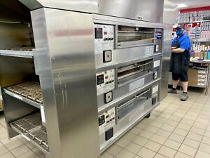 Middleby Marshall Ps570 Triple Deck Conveyor Pizza Oven belt Width 32