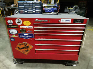 Snap On Rolling Tool Cabinet Box Loaded With Tools Aircraft Mechanic A P
