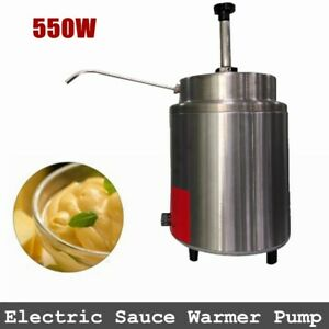 Commercial Nacho Cheese Chips Sauce Dispenser Warmer 110v Electric Sauce Pump