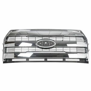 For 2015 2016 2017 Ford F150 F 150 Front Chrome Grille Grill King Ranch Style