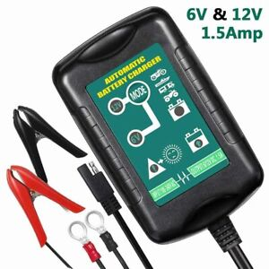 Car Auto Motorcycle Battery Charger Float Trickle Tender Maintainer 6v 12v