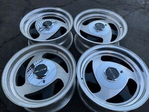 15 Wheels Rims Vintage American Racing Ar233 C10 C 10 Van Truck Tri Blade Spoke