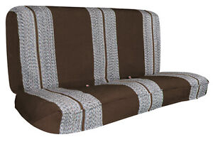 Full Size Car Bench Seat Cover For Chevy Dodge Ford Trucks Front Seat Brown
