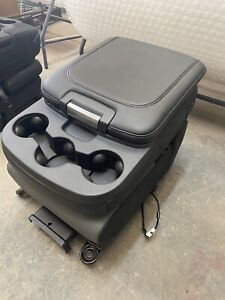 1999 2018 Dodge Ram Center Console Jump Seat Black Grey Leather Vinyl Truck Oem
