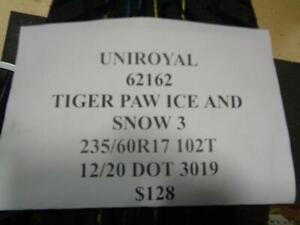1 New Uniroyal Tiger Paw Ice And Snow 3 235 60 17 102t Tire 62162 Q0