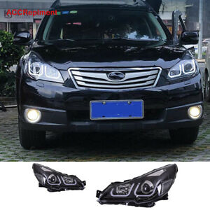 2pcs For Subaru Outback Legacy Headlights Assembly 2010 2014 Projector Led Drl