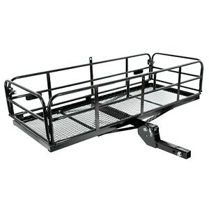 Foldable Hitch Cargo Carrier 60 x 24 x 14 Basket Trailer 500 Lbs Capacity