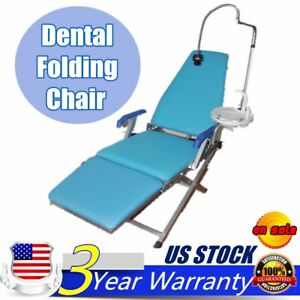 Portable Dental Folding Chair Unit flushing Water Supply System led Light Mobile