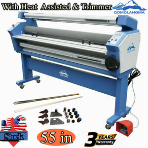 Us 55 Full auto Wide Format Cold Laminator Roll To Roll Heat Assisted Trimmer