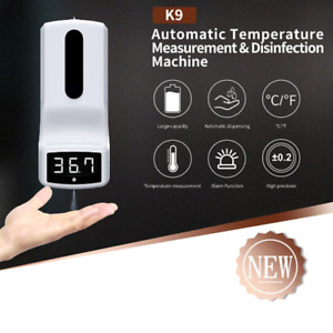 Wall Mounted Infrared Thermometer With Hand Soap Dispenser Automatic Temperature