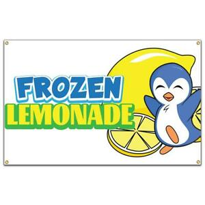 Frozen Lemonade Banner Concession Stand Food Truck Single Sided