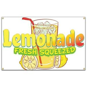Lemonade Fresh Squeezed Banner Concession Stand Food Truck Single Sided