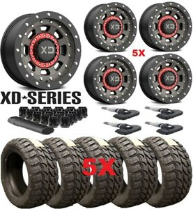 Xd Xd137 Satin Black Dark Tint Wheels Rims Tires 35 12 50 20 Package 5
