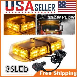36 Led Strobe Light Amber Roof Top Flashing Emergency Warning Trucks Snow Plow