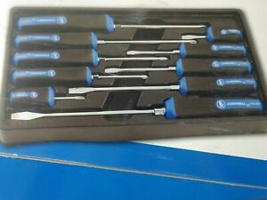 10 Pc Screwdriver Set Phillips Straight Edge Cornwell Tools