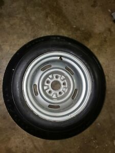 1970 Corvette Original Az Rally Wheel With A Good Year Speedway Tire