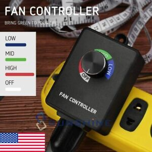 Air Blower Duct Inline Fan Speed Controller Variable Exhaust Booster Hydroponics