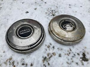2 1968 Ford Falcon 9 Dog Dish Hub Caps Ranchero 1967 1969