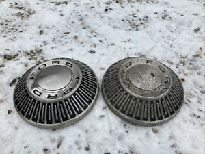 2 1965 Vintage Ford 427 Galaxie Fairlane Truck Hubcaps Wheel Covers Center Caps
