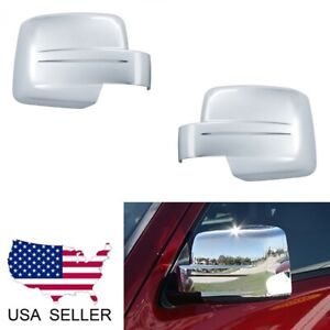 For Jeep Liberty 2008 2012 Patriot 2008 2017 Chrome Full Mirror Covers Overlay