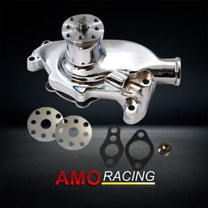 High Volume Chrome Aluminum Short Water Pump Fits Small Block Chevy 283 327 350