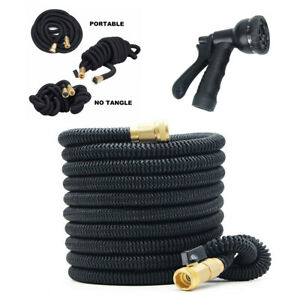 Stronger Deluxe Expandable Flexible Garden Water Hose 25ft With Nozzle Sprayer
