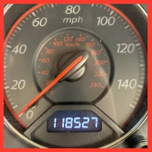 2004 2005 Honda Civic M T 118k Red Instrument Cluster 03 04 05 5 Speed Manual