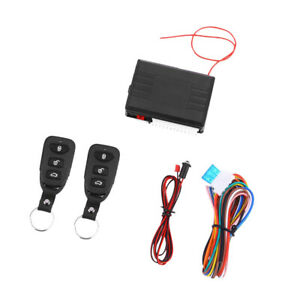 Car Remote Central Kit Door Lock Keyless Entry System With 2 Keys