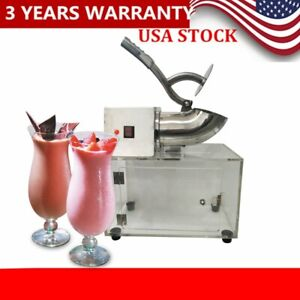 200w Electric Commercial Ice Crusher Shaver Snow Cone Maker Machine 110v 60hz