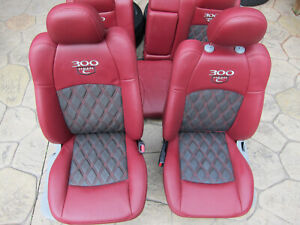 05 07 Chrysler 300c Hemi Red grey Leather Seats Front And Rear Oem Excellent