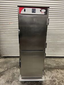 Heated Food Warmer Hot Box Holding Cabinet On Wheels Bevles Nsf Transport 5132