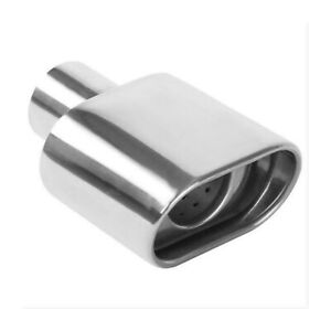 2 25 Exhaust Tip Magnaflow 7 2 Lengt Double Wall Performance Polished Ss Oval
