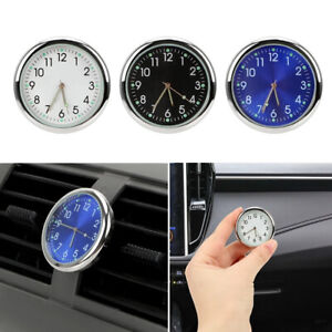 1x Auto Car Stick on Dashboard Clock Air Vent Outlet Clip Home Office Clock Mini