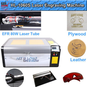 Hl Ruida 80w Co2 Laser Engraving And Cutting Machine Motorized Table 39 x24