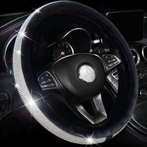 Car Steering Wheel Protector Cover Bling Crystal Diamond Sparkling Universal