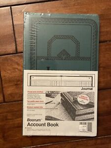 Boorum Pease Record account Book Journal Rule Blue 150 Pages 12 1 8 X 7 5 8