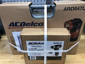 Acdelco Cordless Rechargeable 3 8 Drive Impact Wrench Drill Light Combo Kit