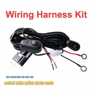 Wiring Harness Switch Relay Kit Dual Color For Connect Led Work Light Bar 3m