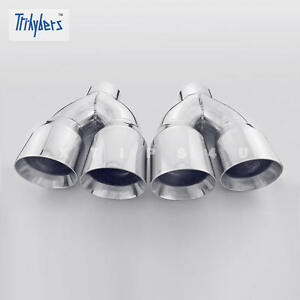 Return Unused Stainless Steel Exhaust Tips Quad Out 3 In Dual 4 Out Dual Wall