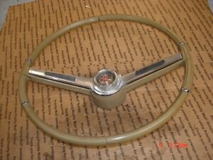 1964 1965 1966 442 Cutlass F85 Rare Olds Tan Steering Wheel Horn Bar Gm