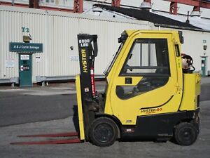2015 Hyster S80ftbcs 8000lbs Forklift Enclosed Cab Only 179 Hours