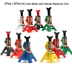 2pcs 3 6 Ton Simulation Jack Stands Toy Adjustable Height For Rc Car Truck Acces
